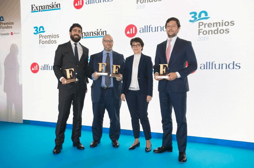 Miguel Roqueiro en los premios Expansión- Allfunds