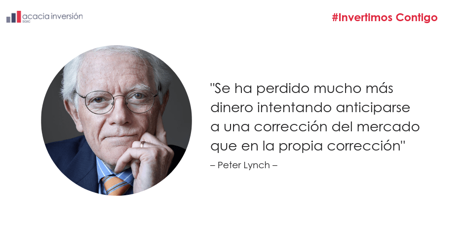 imagen con la frase de Peter Lynch Acacia Inversion